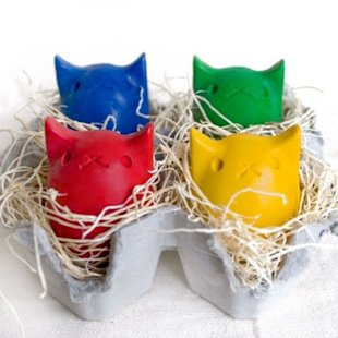 Kitty Egg Crayons