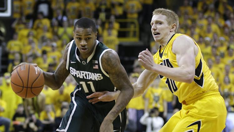 No. 7 Michigan State beats No. 15 Iowa 71-69 in OT