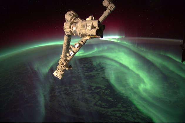 Southern Lights from outer space