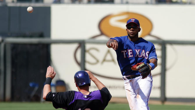 MLB: Spring Training-Colorado Rockies at Texas Rangers