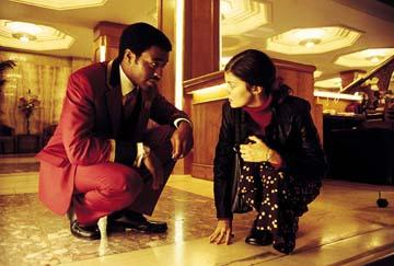 Audrey Tautou and Chiwetel Ejiofor in Miramax's Dirty Pretty Things