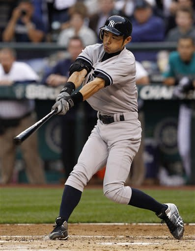 Suzuki singles in Yankees debut, 4-1 win over M's
