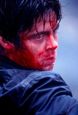 Benicio Del Toro as Aaron Hallam in Paramount's The Hunted