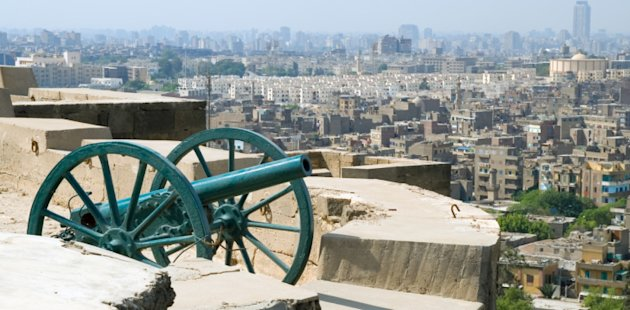 A cannon is placed at the highest point in the city on the Citadel and fired at sunset during Ramadan.