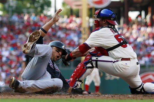 Braves rough up Halladay, beat Phillies
