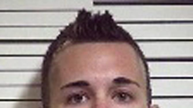 This image provided by the Iron County Jail shows Brandon Gillman, 30, of South Jordan, Utah. Gillman, who was about to drive a bus full of recent high school graduates to Disneyland, was arrested Wednesday, May 24, 2012 by Cedar City, Utah police on suspicion of being under the influence of drugs. (AP Photo/Iron County Jail)