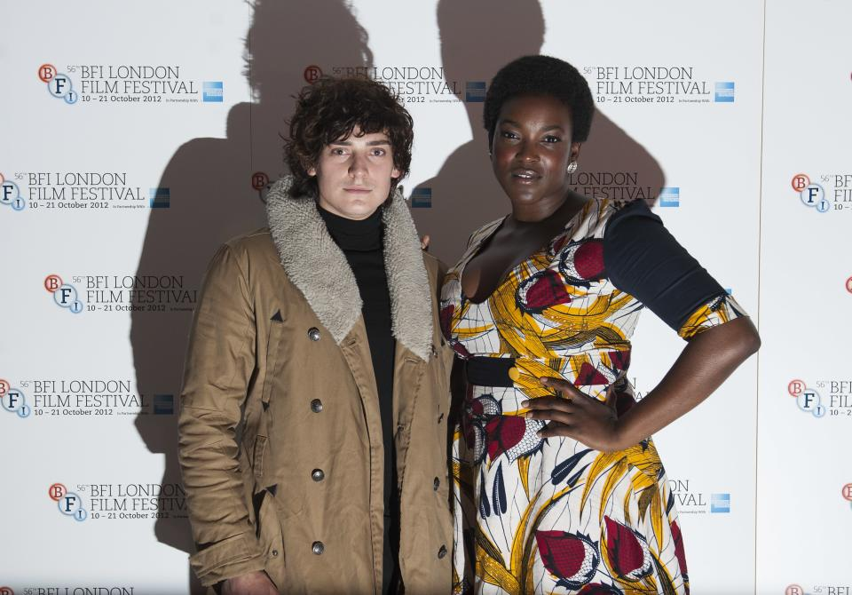 "Actors Aneurin Barnard and Wunmi Mosaku arrives during the BFI London Film Festival at the premiere of ""Citadel"" on Friday, Oct. 19, 2012, in London. (Photo by Ki Price/Invision/AP)"