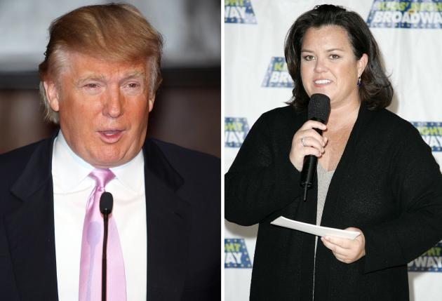Donald Trump and Rosie O'Donnell -- Getty Images