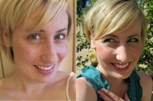 Lori, one of the brave moms who sent in photos of herself before and after makeup.