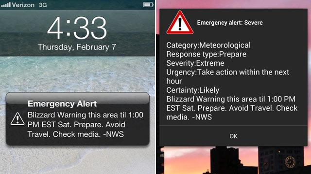 Wireless Blizzard Alerts Hit Smartphones