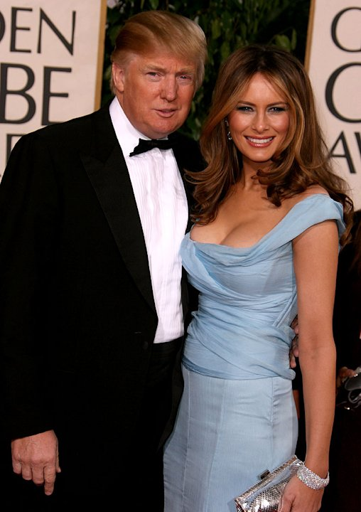 Donald Trump and Melania Trump at the 64th annual Golden Globe Awards. 