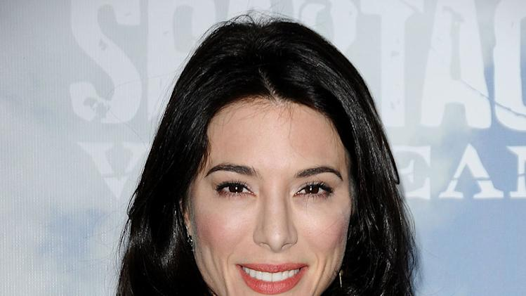 "Jaime Murray attends the Starz Original Series ""Spartacus: Vengeance"" Premiere Event at ArcLight Cinemas Cinerama Dome on January 18, 2012 in Hollywood, California."