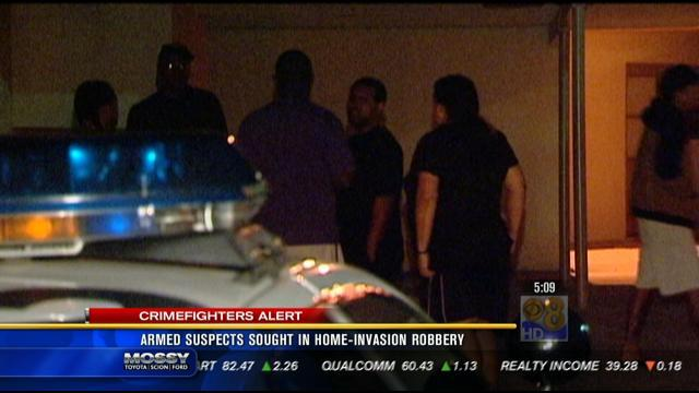 Armed suspects sought in home invasion robbery