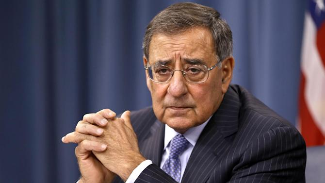 "FILE - In this Sept. 27, 2012, file photo, Defense Secretary Leon Panetta listens during a news conference at the Pentagon in Washington. House Republicans' ""fiscal cliff"" counteroffer to President Barack Obama hints at billions in dollars of defense cuts on top of the $500 billion that the White House and Congress backed last year. (AP Photo/Jacquelyn Martin, File)"