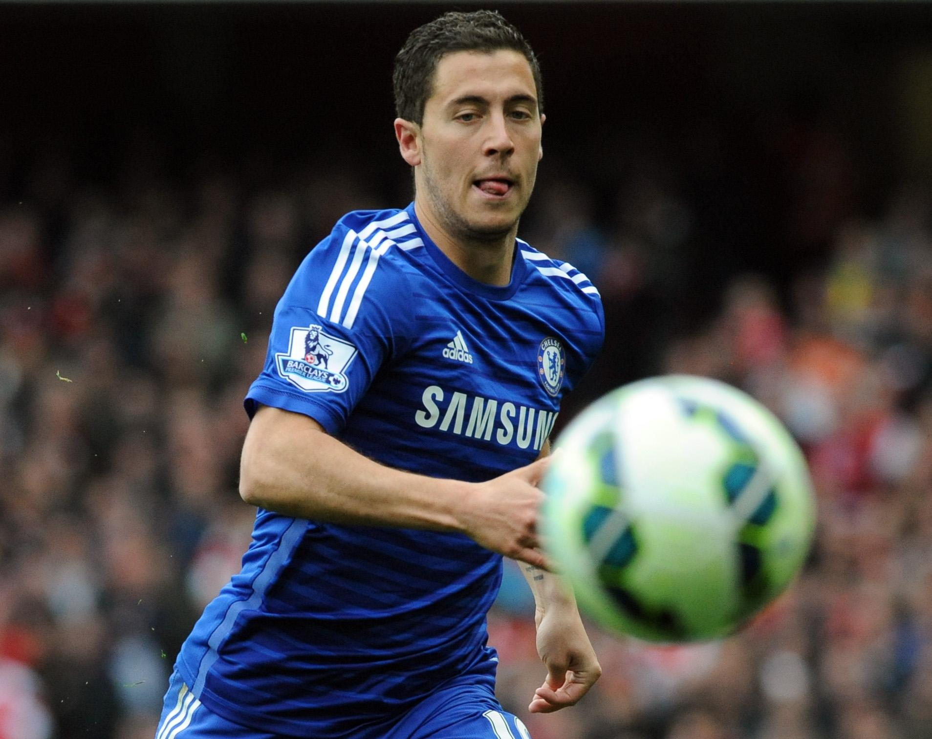 Eden Hazard voted player of year by fellow pros in England