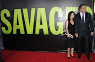 Director Oliver Stone arrives for the premiere of &#39;Savages&#39; at Westwood Village, on June 25, in Los Angeles, California. Stone&#39;s latest movie pits a pair of Californian neo-hippy cannabis growers against Mexican drug barons aiming to move their business north of the border, with predictably violent results