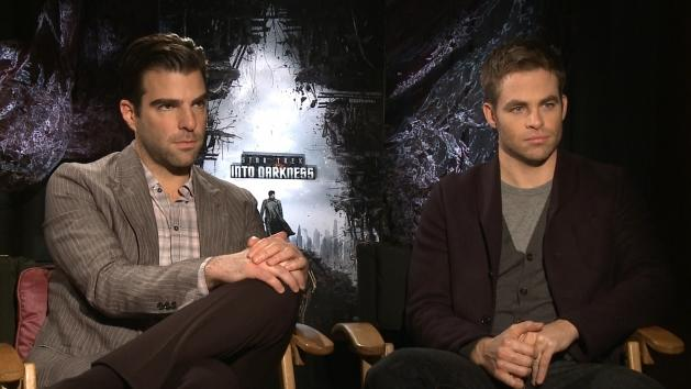 Zachary Quinto and Chris Pine chat with Access Hollywood at the preview junket for 'Star Trek Into The Darkness' on December 12, 2012 -- Access Hollywood