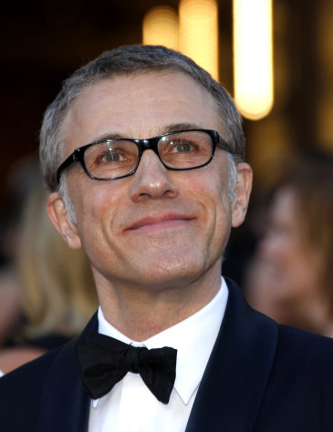 Actor Christoph Waltz arrives at the Oscars at the Dolby Theatre on Sunday Feb. 24, 2013, in Los Angeles. (Photo by Carlo Allegri/Invision/AP)