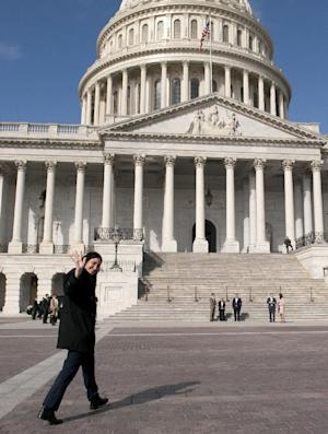 Cuban blogger Yoani Sanchez arrives on Capitol Hill in Washington, Tuesday, March 19, 2013. (AP Photo/Cliff Owen)
