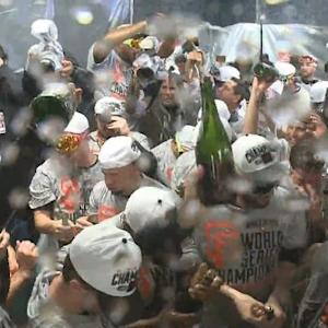 Raw Video: Giants Celebrate In Locker Room After Winning World Series