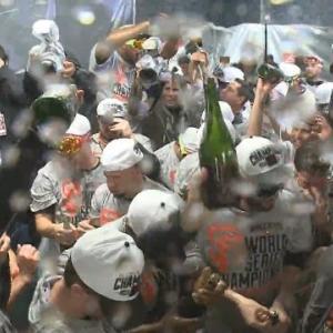 Raw Video: Giants Celebrate In Locker Room After Winning World Series