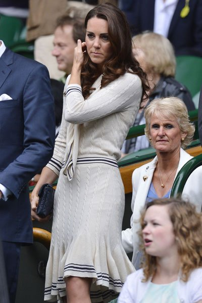 Kate Middleton at Wimbledon 2012  Rex