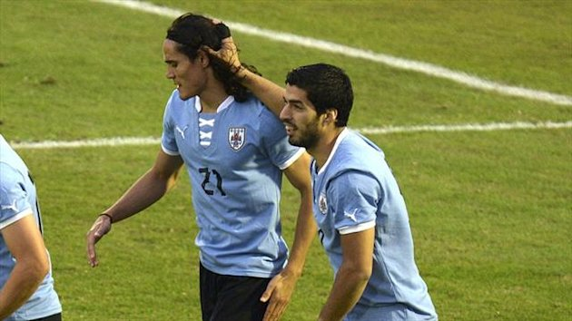 Edinson Cavani and Luis Suarez (Getty Images)