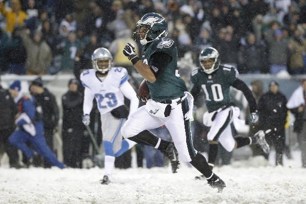 In this Dec. 8, 2013 file photo, Philadelphia Eagles' Chris Polk runs with the ball during the second half of an NFL football game against the Detroit Lions, in Philadelphia. When the Philadelphia
