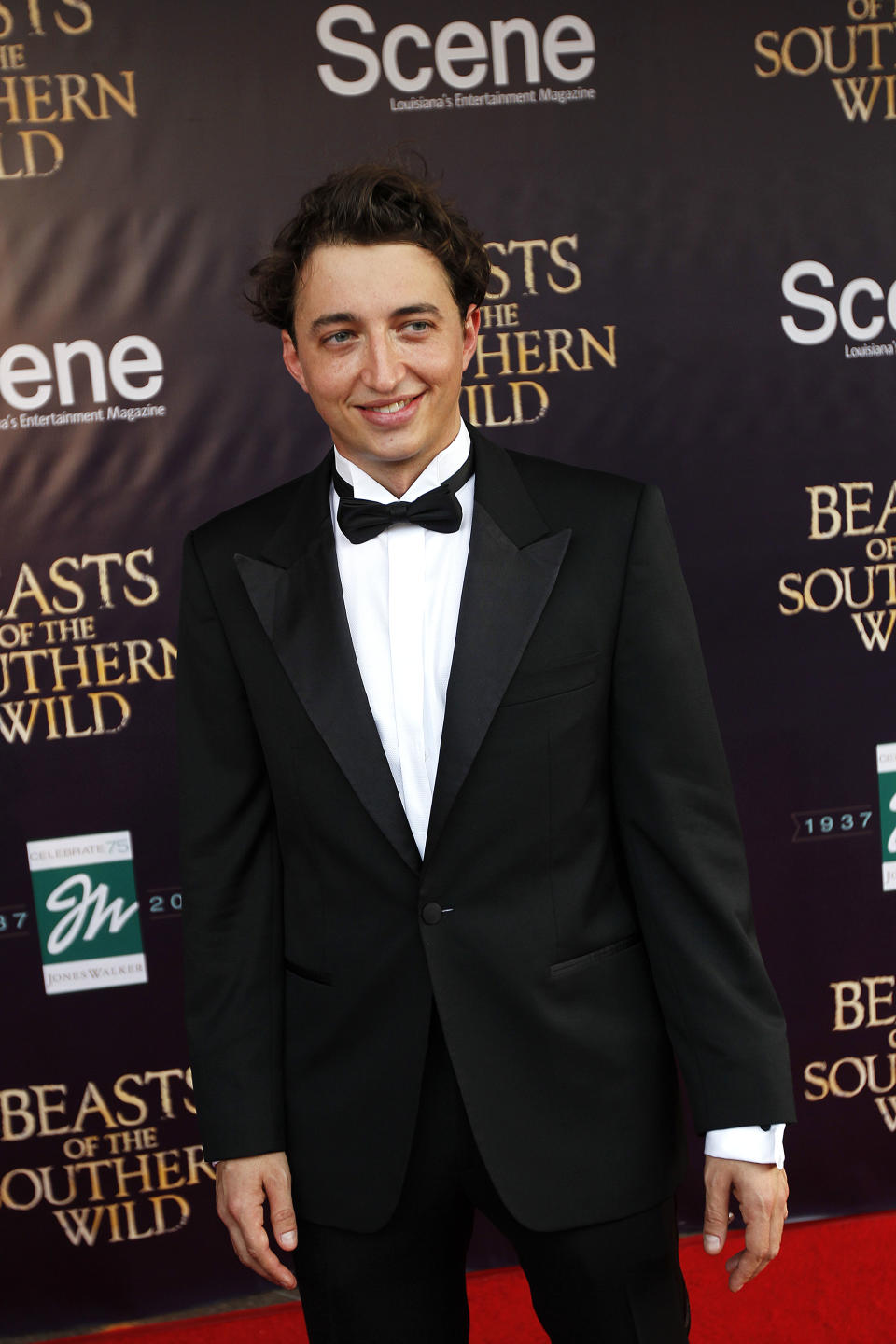 "Benh Zeitlin, director and co-writer of ""Beasts Of The Southern Wild""  arrives at the film's premiere at the Joy Theater in New Orleans, Monday, June 25, 2012. (AP Photo/Gerald Herbert)"