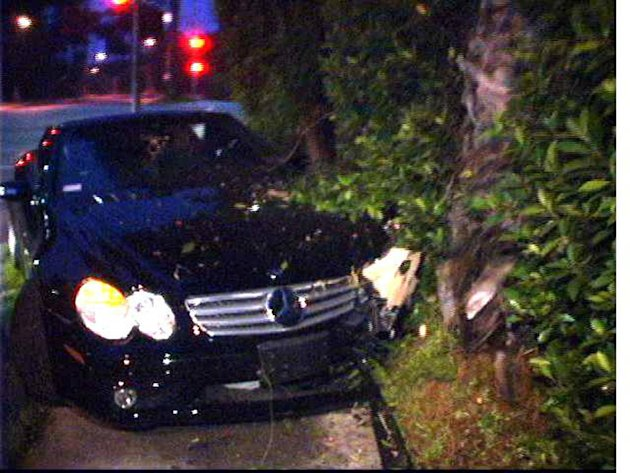 Lohan Lindsay Car Crash