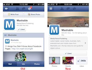 Timeline For Facebook Pages Rolling Out on Mobile