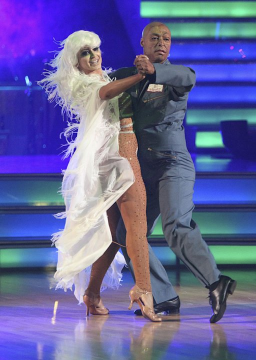 Karina Smirnoff and J.R. Martinez perform on &quot;Dancing With the Stars.&quot; 