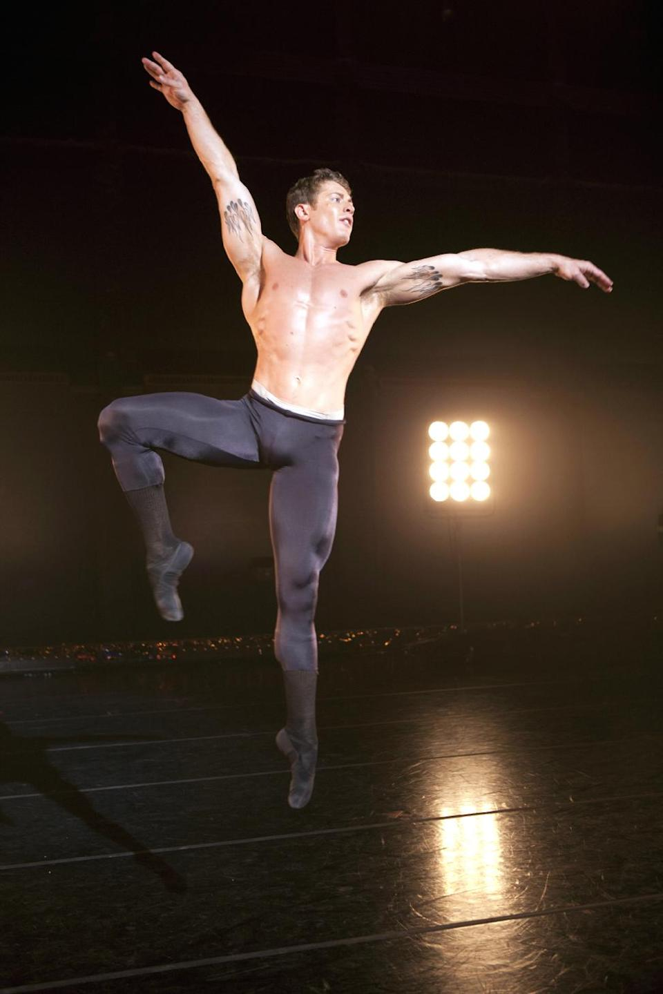 "This undated image released by The CW shows  Ronnie Underwood in the ballet reality series, ""Breaking Pointe,"" airing Thursdays at 8 p.m. EST on The CW. (AP Photo/The CW, Erik Ostling)"