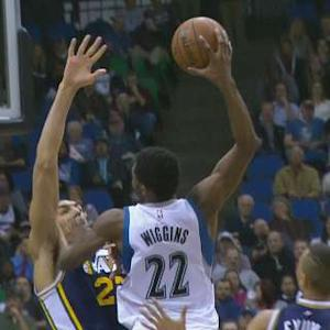 Wiggins Dunks on Gobert
