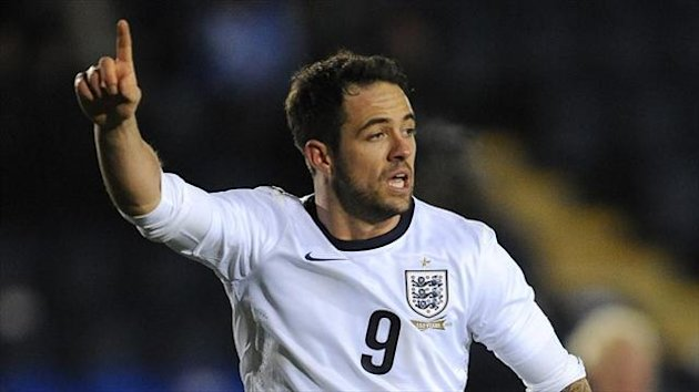 Danny Ings scored a pair of goals for England Under-21s