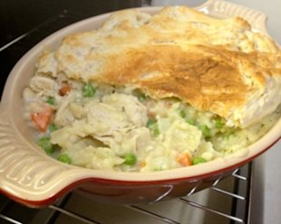 A flaky, full topping for a dish you can make easily.
