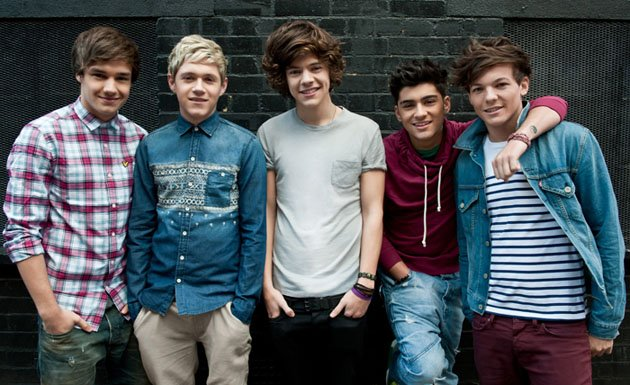 One Direction: Liam Payne, Niall Horan, Harry Styles, Zayn Malik und Louis Tomlinson