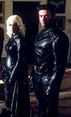 Halle Berry as Storm and Hugh Jackman as Wolverine in 20th Century Fox's X2: X-Men United