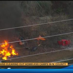 Caltrans clearing out homeless camps in North County