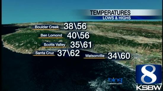 Watch your Monday night KSBW weather forecast 01.28.13