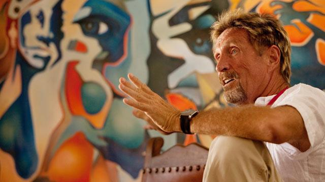 McAfee: Evading Police Is 'Exhausting'