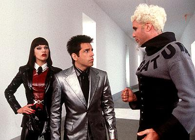 Milla Jovovich , Ben Stiller and Will Ferrell in Paramount's Zoolander