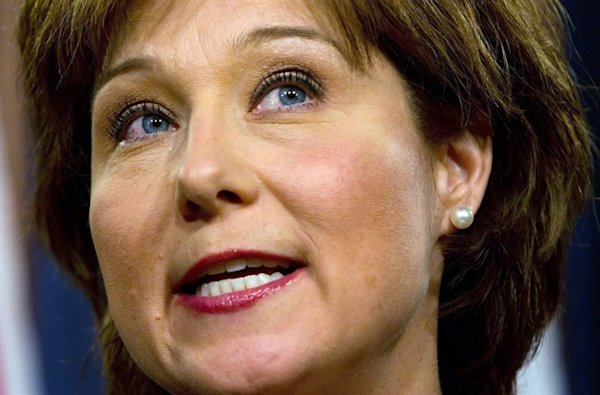 B C S Christy Clark Gets Attention For Showing Cleavage