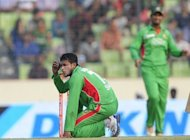 Bangladesh cricketer Shakib Al Hasan grimaces during his side's Asia Cup one-day international final against Pakistan in Dhaka on March 2012. The Bangladesh high court on Thursday ordered the national team's upcoming tour of Pakistan to be postponed for at least four weeks due to fears about militants targeting foreign cricket sides