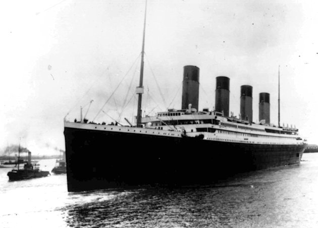 In this April 10, 1912, file photo, the liner Titanic leaves Southampton, England on her maiden voyage. Nearly 100 years after the Titanic went down, a cruise with the same number of passengers aboard