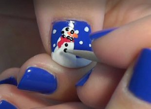 Making a snowman design