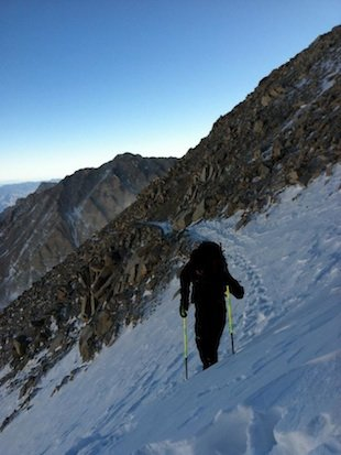 Cross country runner Adam Peterman nears the summit of Mt. Whitney &#x002014; Facebook
