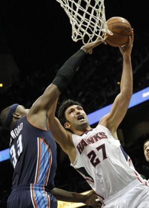 Horford leads Hawks to 94-91 win over Bobcats