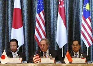 U.S. Trade Representative Froman speaks at the end of the TPP Ministerial meeting in Singapore