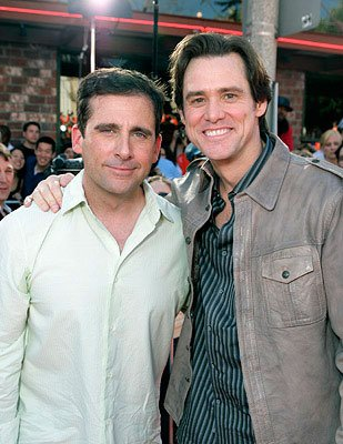 Steve Carell and Jim Carrey at the Los Angeles premiere of 20th Century Fox's  Dr. .Seuss' Horton Hears a Who